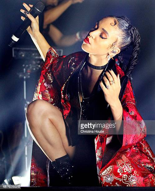 British singer songwriter producer and dancer FKA twigs is photographed for Los Angeles Times on August 23 2015 in Los Angeles California
