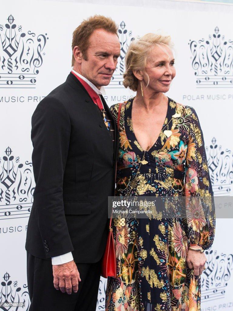 British Singer Sting attends Polar Music Prize on June 15, 2017 in Stockholm, Sweden.