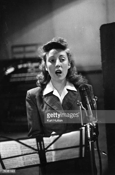 British singer Vera Lynn nicknamed the 'Forces' sweetheart' Original Publication Picture Post 1992 Girls Of The Victory Broadcast pub 1945