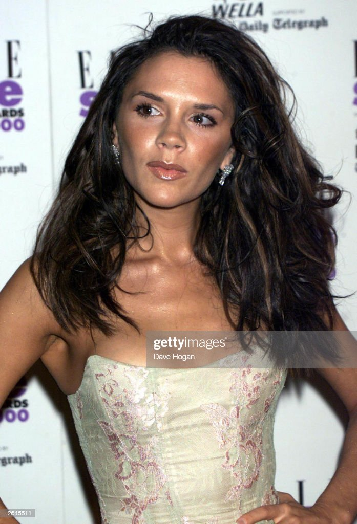 British singer Victoria Beckham arrives for the Elle Style Awards on September 26 2000 in London
