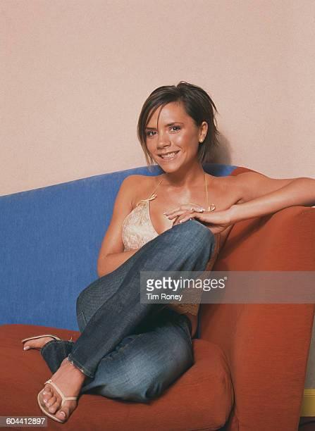 British singer Victoria Beckham nee Adams aka 'Posh Spice' formerly of pop girl group The Spice Girls circa 2000
