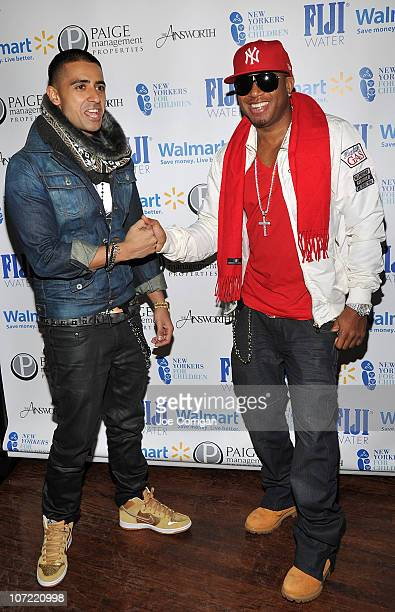 British singersongwriter and rapper Jay Sean and rapper Red Cafe attend the New Yorkers for Children Wrap to Rap benefit at The Ainsworth on November...