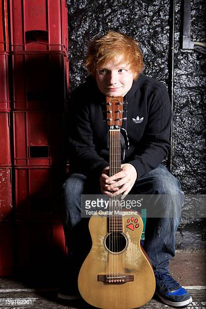British singersongwriter Ed Sheeran photographed during a portrait shoot for Total Guitar Magazine May 22 2012