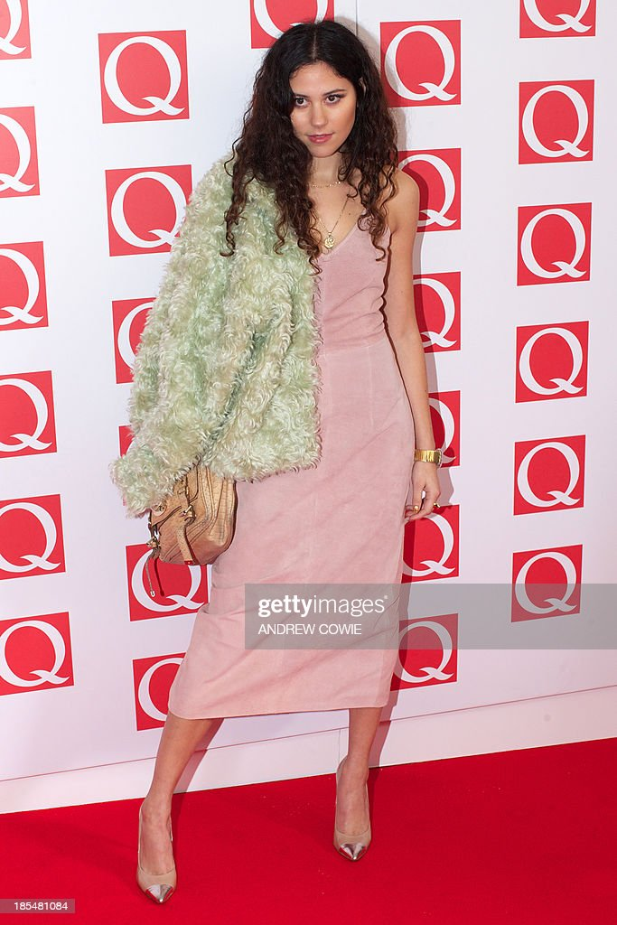 British singer-songwriter Eliza Doolittle attends The Q Awards 2013 in central London on October 21, 2013.