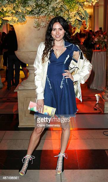 British singersongwriter Eliza Doolittle attends the Wedding Dresses 17752014 Exhibition private view at the Victoria and Albert Museum on April 30...
