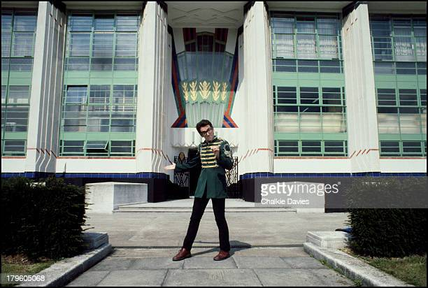 British singersongwriter Elvis Costello outside The Hoover Building on Western Avenue in Perivale London 1978 Costello wrote a tribute to the...