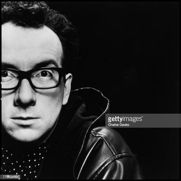 British singersongwriter Elvis Costello photographed in a London studio 1991