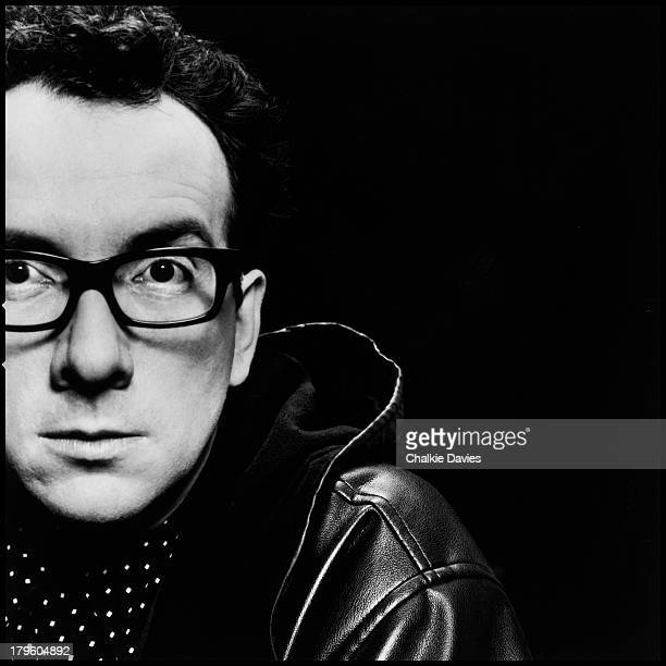 British singersongwriter Elvis Costello photographed in a London studio 1991