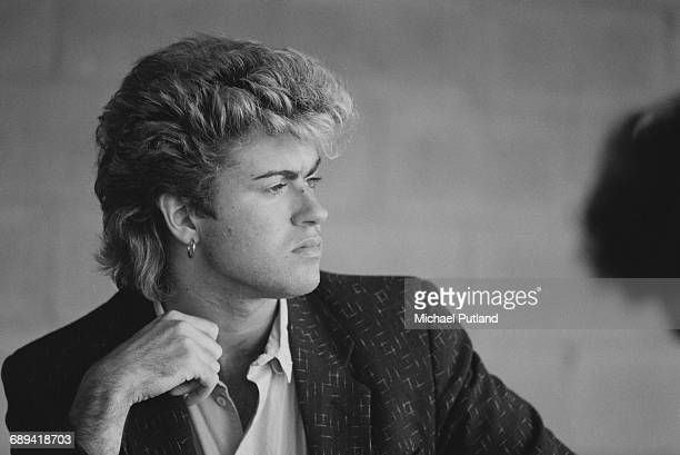 British singersongwriter George Michael of Wham during the pop duo's 1985 world tour January 1985'The Big Tour' took in the UK Japan Australia China...