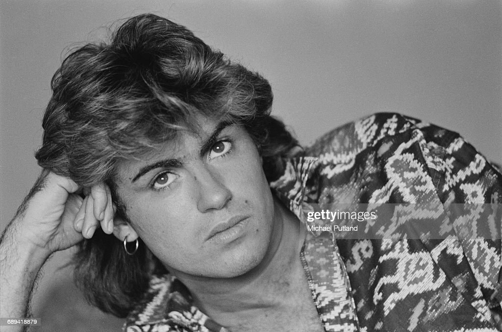 British singer-songwriter George Michael, of Wham!, in a Sydney hotel room during the pop duo's 1985 world tour, January 1985. 'The Big Tour' took in the UK, Japan, Australia, China and the US.
