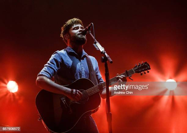 British singersongwriter Michael David Rosenberg aka Passenger performs on stage at Orpheum Theatre on March 25 2017 in Vancouver Canada