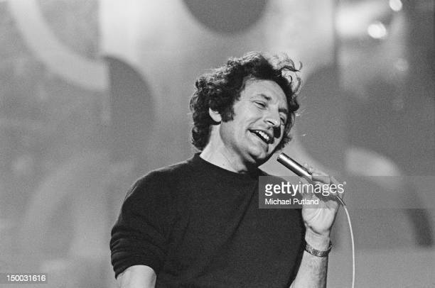 British skiffle musician Lonnie Donegan performing on the BBC's Lulu Show 2nd August 1970