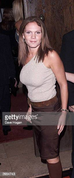 British socialite Louise Adams sister of Victoria Beckham attends the launch party for the 'Spice Girls' new album at the Red Cube Club on November 6...