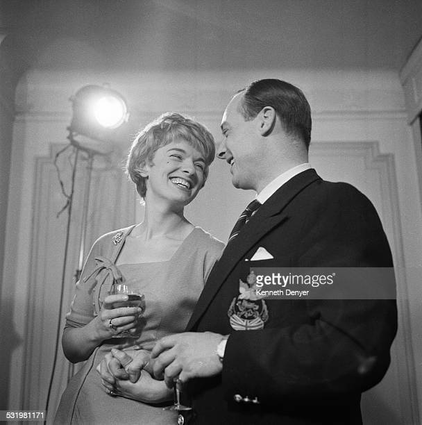 British speed record breaker Donald Campbell with his fiance singer Tonia Bern 21st December 1958