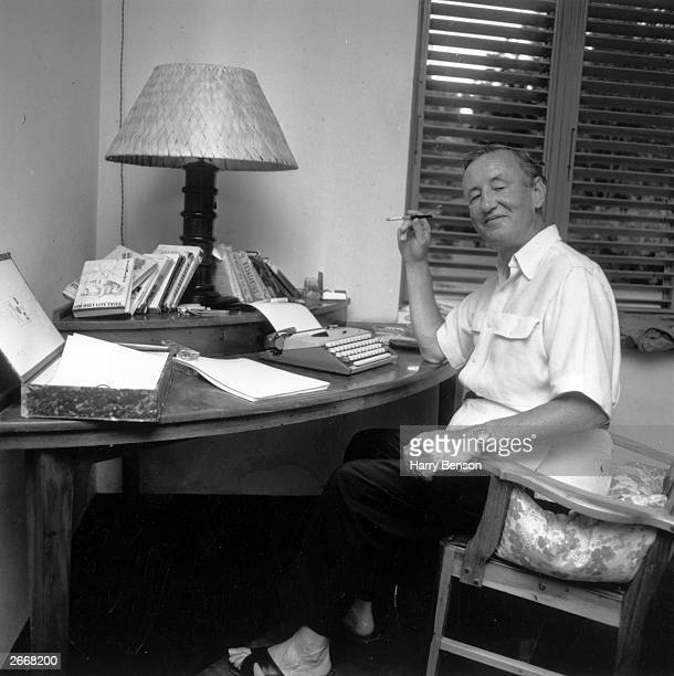 British spy writer Ian Fleming at his home Goldeneye in Jamaica