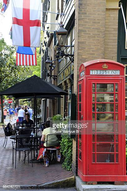 British style phone booth