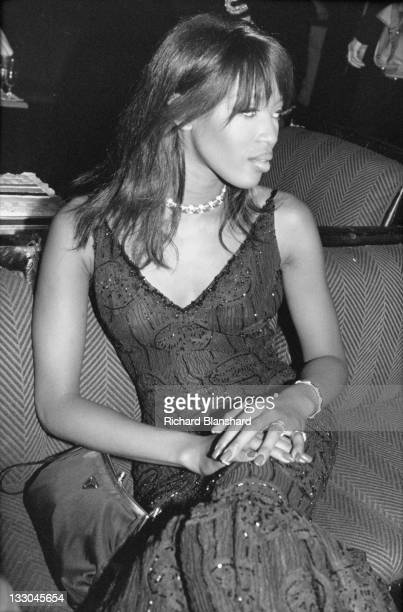 British supermodel Naomi Campbell attends a party for the film 'Ed Wood' at the Cannes Film Festival France May 1995