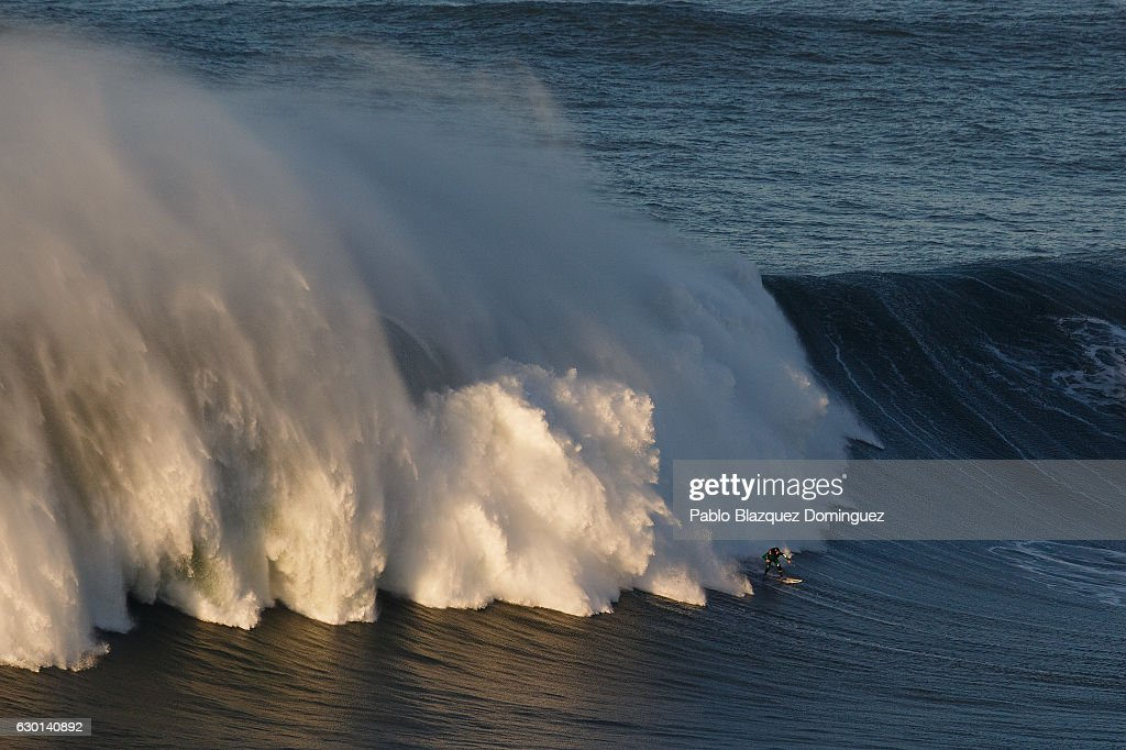 Surfers From Around The World Gather At Nazare And Wait For Giant Waves