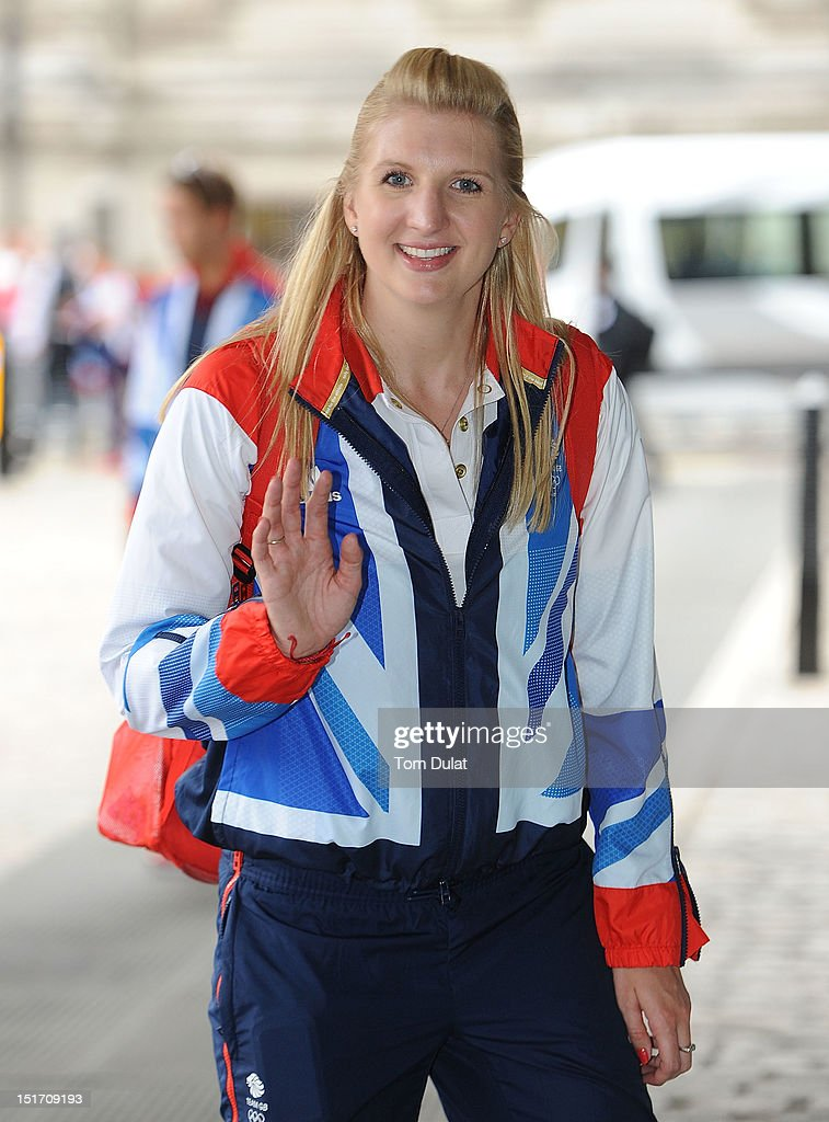 British swimmer <a gi-track='captionPersonalityLinkClicked' href=/galleries/search?phrase=Rebecca+Adlington&family=editorial&specificpeople=872897 ng-click='$event.stopPropagation()'>Rebecca Adlington</a> poses during the reception for Team GB and Paralympic GB athletes on September 10, 2012 in London, England.