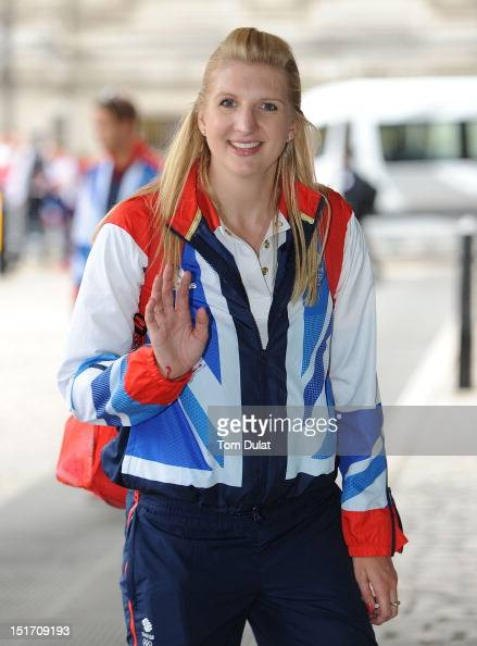 British swimmer Rebecca Adlington poses during the reception for Team GB and Paralympic GB athletes on September 10 2012 in London England