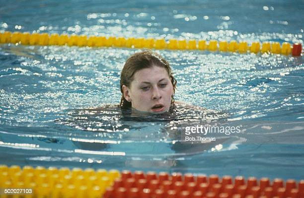 British swimmer Sharron Davies circa 1985