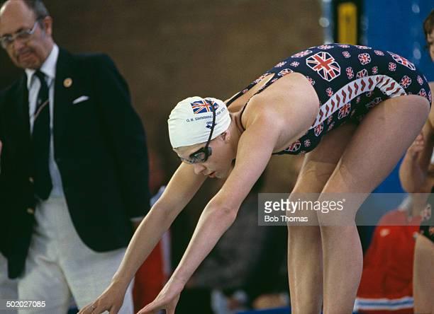 British swimmer Sharron Davies competing for Great Britain 1979