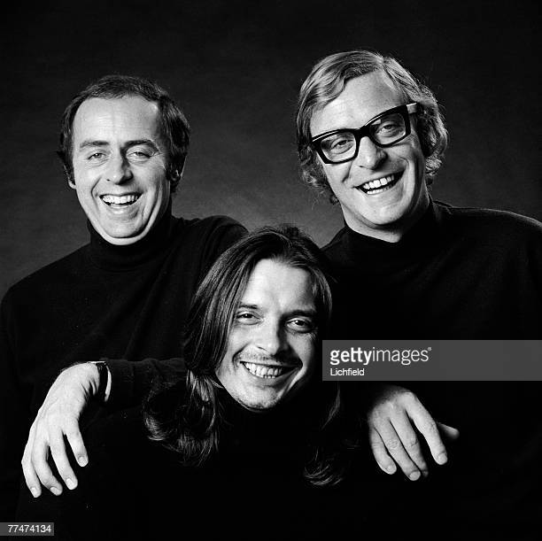 British tailor Doug Hayward photographer David Bailey and film actor Michael Caine on 14th September 1971