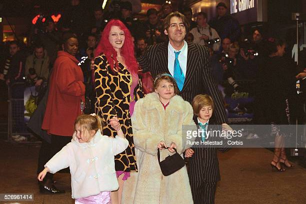British television broadcaster Jonathan Ross his wife writer Jane Goldman and their children Honey Betty and Harvey attend the London premiere of How...
