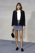British television presenter Alexa Chung poses during a photocall prior to the Chanel 2015 Spring/Summer readytowear collection fashion show on...