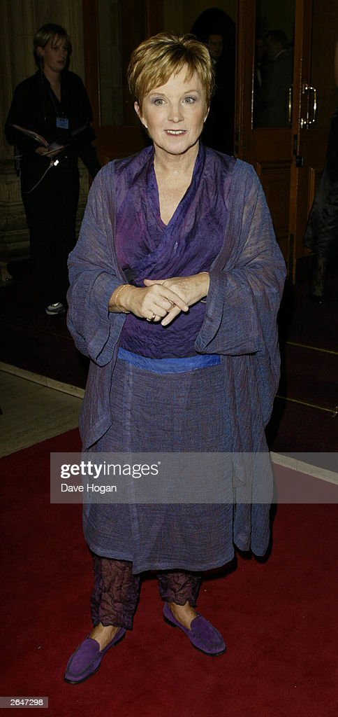 British television presenter Anne Robinson arrives at the National TV Awards party at the Royal Albert Hall on October 15, 2002 in London.