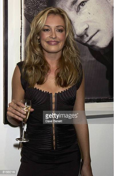 British television presenter Cat Deeley attends the Helena Christensen 'Icons and Portraits' photography exhibition held at the Proud Gallery as part...