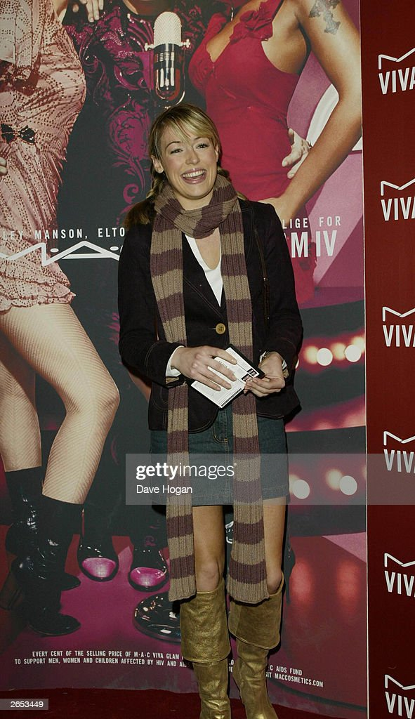British television presenter Cat Deely attends the Elton John concert held at the Shepherds Bush Empire on December 16, 2002 in London.