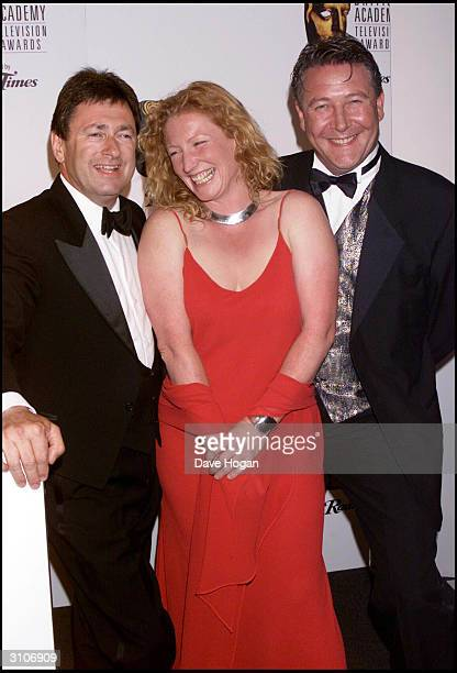British television presenter Charlie Dimmock of the program 'Ground Force' arrives at the BAFTA Television Awards held at the Grosvenor House Hotel...
