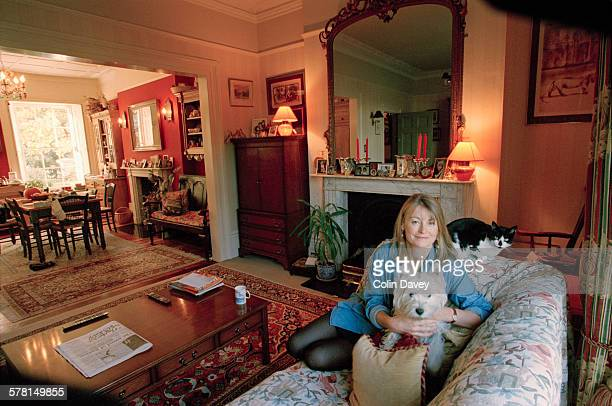 British television presenter Sue Cook at home UK 29th October 1996