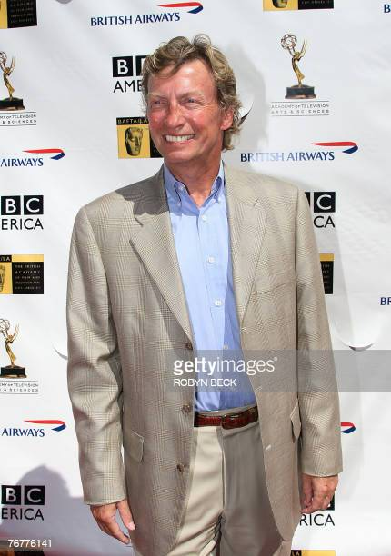 British television producer Nigel Lythgoe arrives for a preEmmy Awards tea party hosted by the British Academy of Film Television Arts/Los Angeles...