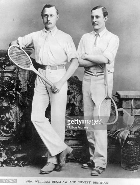 British tennis brothers William and Ernest Renshaw
