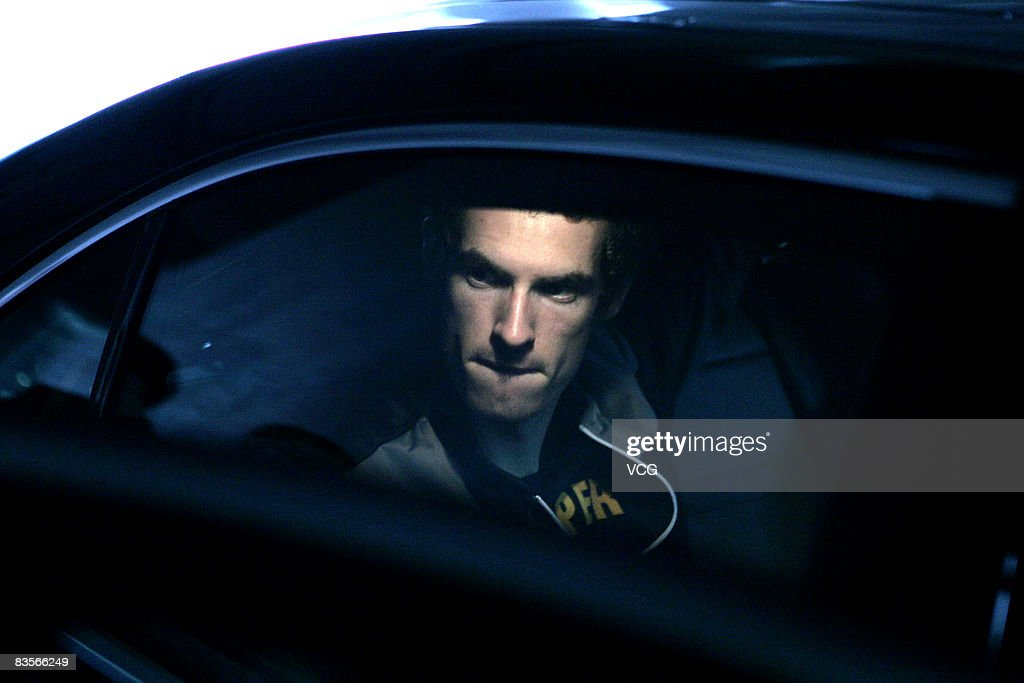 British tennis player <a gi-track='captionPersonalityLinkClicked' href=/galleries/search?phrase=Andy+Murray+-+Tennis+Player&family=editorial&specificpeople=200668 ng-click='$event.stopPropagation()'>Andy Murray</a> arrives in Shanghai for the Tennis Masters Cup - Shanghai 2008 on November 5, 2008 in Shanghai, China. The Tennis Masters Cup - Shanghai 2008 will be held from November 9th-16th.