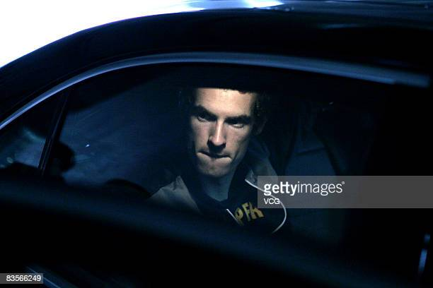 British tennis player Andy Murray arrives in Shanghai for the Tennis Masters Cup Shanghai 2008 on November 5 2008 in Shanghai China The Tennis...