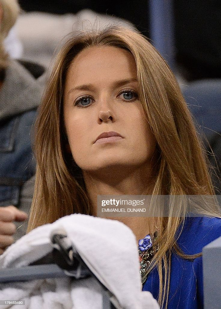 British tennis player Andy Murray's girlfriend Kim Sears watches him play against Uzbekistan's Denis Istomin during their 2013 US Open men's singles match at the USTA Billie Jean King National Tennis Center in New York on September 3, 2013. AFP PHOTO/Emmanuel Dunand