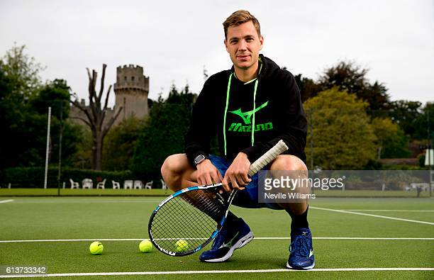 British tennis player Marcus Willis poses at the Warwick Boat Club as he gets ready to play for a winnertakeall prize of $250000 at Tie Break Tens in...