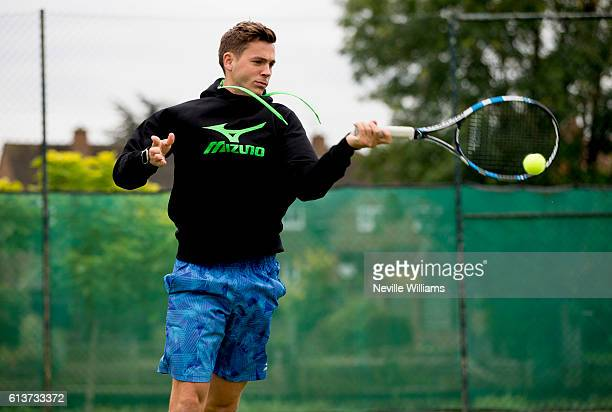 British tennis player Marcus Willis trains at the Warwick Boat Club as he gets ready to play for a winnertakeall prize of $250000 at Tie Break Tens...