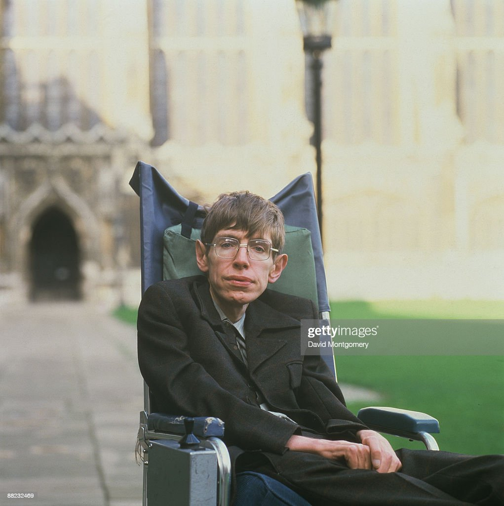 British theoretical physicist <a gi-track='captionPersonalityLinkClicked' href=/galleries/search?phrase=Stephen+Hawking&family=editorial&specificpeople=215281 ng-click='$event.stopPropagation()'>Stephen Hawking</a>, Cambridge, January 1993.