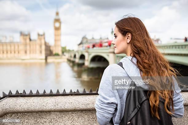 british tourist in london smiling against the Big Ben
