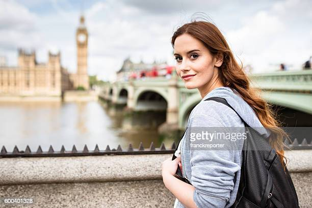 british tourist in london smiling against the Big Ben
