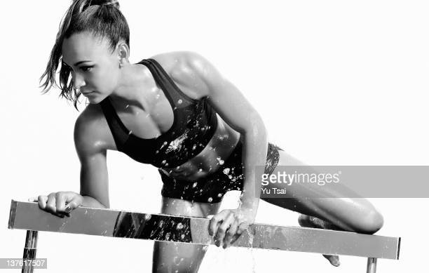 British track and field athlete Jessica Ennis is photographed for Marie Claire UK on October 13 2011 in New York City ON DOMESTIC EMBARGO UNTIL MAY...