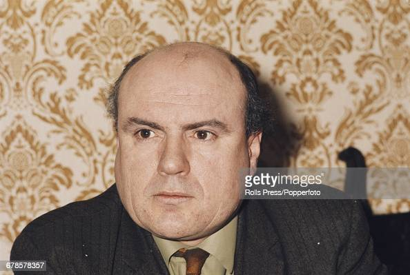 British trade unionist and General Secretary of the National Union of Mineworkers Lawrence Daly pictured at a meeting in London in June 1970