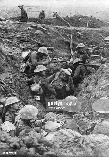 British troops at the Menin Road near Ypres Belgium 30 October 1917 The Menin Road was the main road leading east out of Ypres The British trenches...