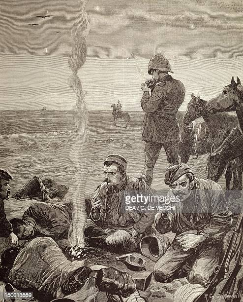 British troops encampment by Garnet Wolseley 1884 Colonial wars Sudan 19th century