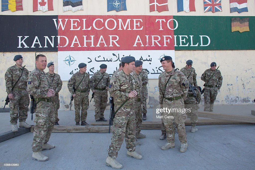 British troops gather for a photograph at Kandahar airfield on November 12 2014 in Kandahar Afghanistan Now that British combat operations have ended...