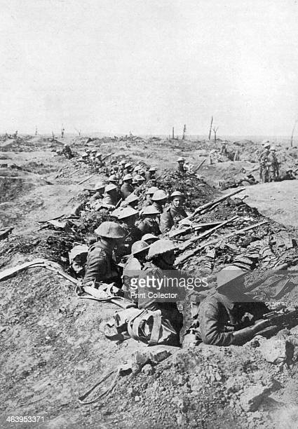 British troops on the Somme Heights France First World War 19141918 Illustration from The Illustrated War Record of the Most Notable Episodes in the...
